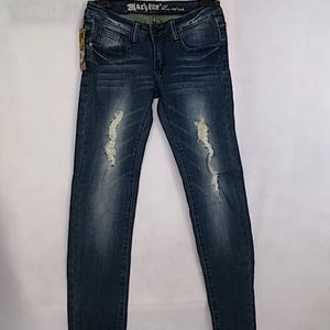 Machine Nouvelle Mode Distressed Skinny Jeans 27
